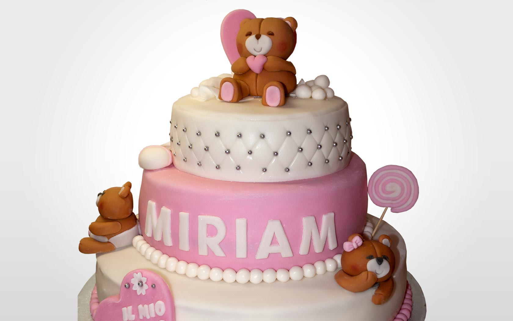 Favoloso Torta di Battesimo con orsetti   Manuela Raselli   Cake & Web Design BX78